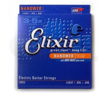 Guitar Patrol - Elixir 12052 Nanoweb Light Electric guitar strings
