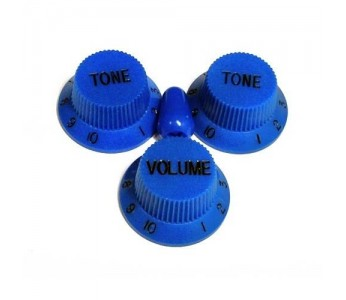 Allparts Knob Set 2T + 1V + Switch Dark Blue