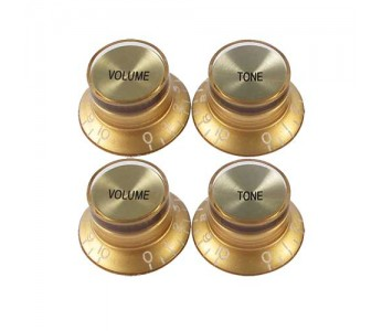Guitar Patrol - Virgo Reflector Cap knobs (4pcs) - Gold/Gold