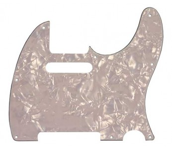 Allparts Tele® style Pickguard 3-ply White Pearloid