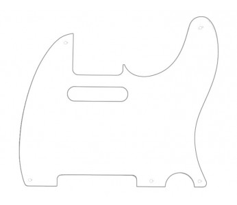 Guitar Patrol - Allparts PG-0560-025 Tele® style Pickguard 1-ply - White