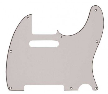 Guitar Patrol - Allparts 3-ply white pickguard for Telecaster