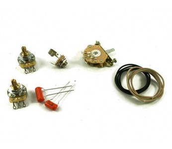 Guitar Patrol - Tele 3-way wiring kit, incl. pots, switch, wire, capacitors