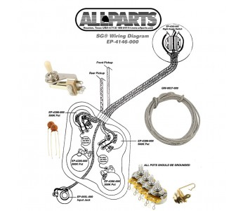 Guitar Patrol - Allparts Wiring Kit for SG - EP 4146-000