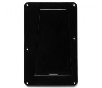 Guitar Patrol - Allparts Tremolo Spring Cover w/Access Panel 1-ply Black