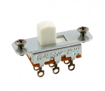 Guitar Patrol - Switchcraft On-On Slide Switch - White