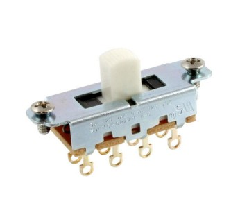 Guitar Patrol - Switchcraft On-Off-On Slide Switch for Mustang - White