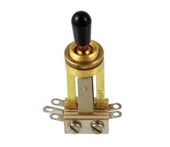 Guitar Patrol - Switchcraft Straight Toggle Switch w/knob - Gold