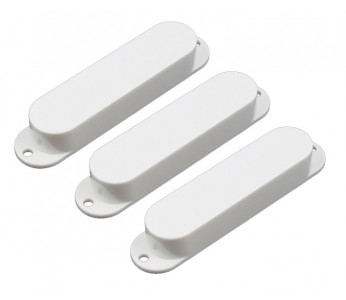 Allparts Pickup Covers Set White No Holes