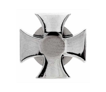 Grover Strap Button Iron Cross (set of 2) Chrome