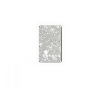 Allparts Tremolo Spring Cover 3 ply White Pearloid