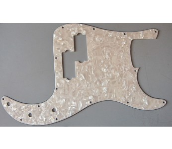 Allparts Precision Bass® Style Pickguard 3 ply White Pearloid