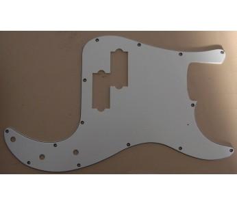 Allparts Precision Bass® Style Pickguard 3 ply White