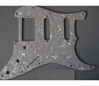 Allparts Strat® Style SSH Pickguard 3 ply White Pearloid