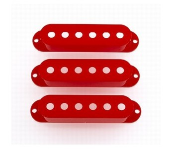 Allparts Pickup Covers Set Red