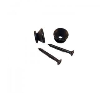 Guitar Patrol - Virgo traditional black strap button set, incl screws