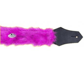 Get'm Get'm Guitar Strap Pink Faux Fur