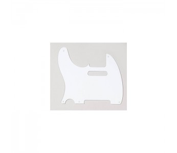 Allparts Tele® style Pickguard 1 ply Left Handed White