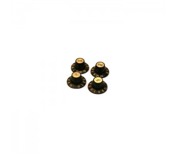 Virgo guitar Witch Hat Knob Set Black-Gold