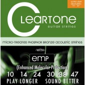 Cleartone Extra Light 10-47 Acoustic Guitar Strings