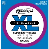D'Addario Electric Guitar Strings EXL120 09-42