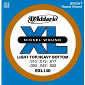 D'Addario Electric Guitar Strings EXL140 10-52