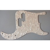 Allparts Precision Bass Style Pickguard 3 ply White Pearloid