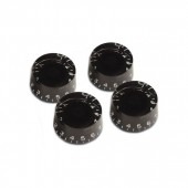 Virgo Plastic Speed Knob (4 pcs) Gibson Style Black