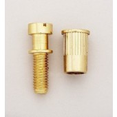 Allparts Metric Studs and Anchors for Stop Tailpiece Gold