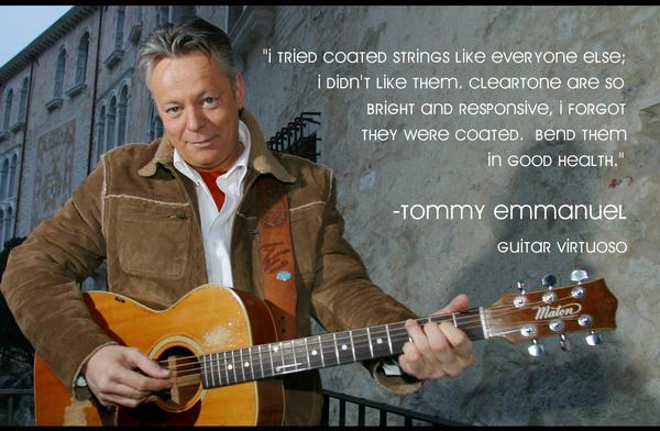 Tommy Emmanuel's Favorite Strings